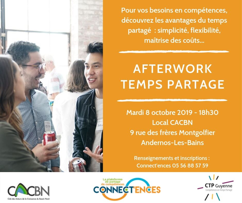 Invitation afterwork Temps partagé